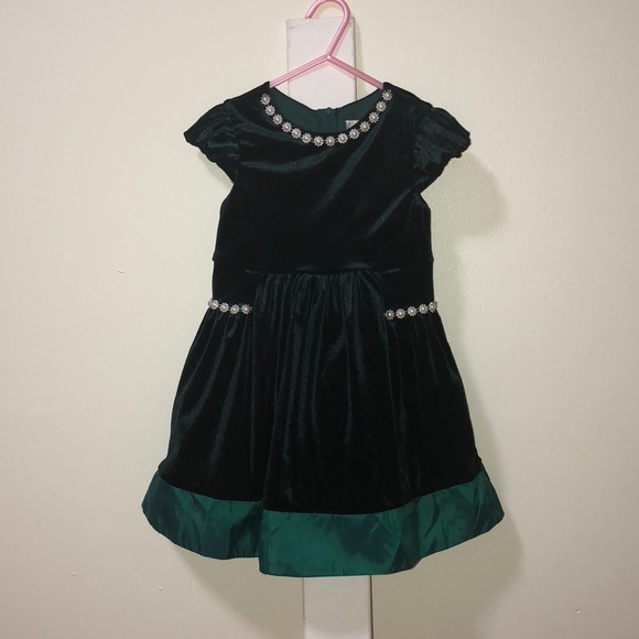 f3d99d6c91c9 Rare Editions Dresses | Toddler Girls Beautiful Dark Green Party ...